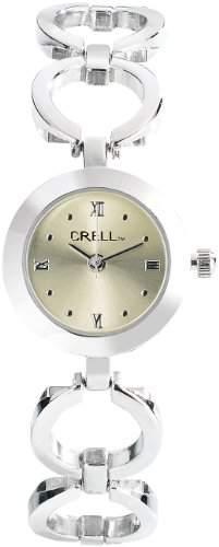 CRELL Elegante Armbanduhr fuer Damen, rund