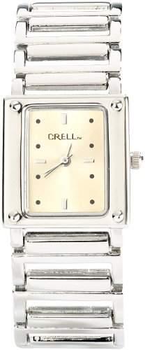 CRELL Elegante Armbanduhr fuer Damen, eckig