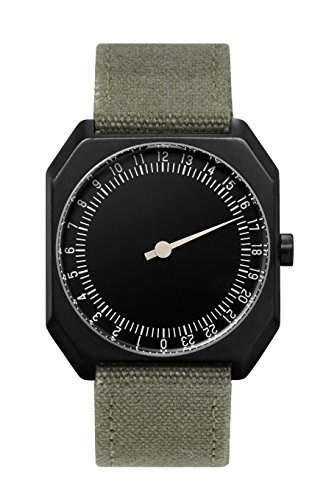 slow Jo 15 - Olive Green Canvas, Black Case, Black Dial - Swiss Made