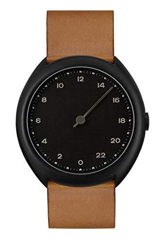 slow Unisex-Armbanduhr slow O 11 - Brown Vintage Leather, Black Case, Black Dial Analog Leder Braun slow O 11