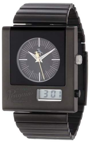 Original Penguin Herren-Armbanduhr edelstahl Schwarz OP3013BK