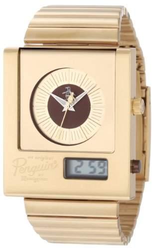Original Penguin Herren-Armbanduhr Analog Digital Quarz Edelstahl OP3013GD