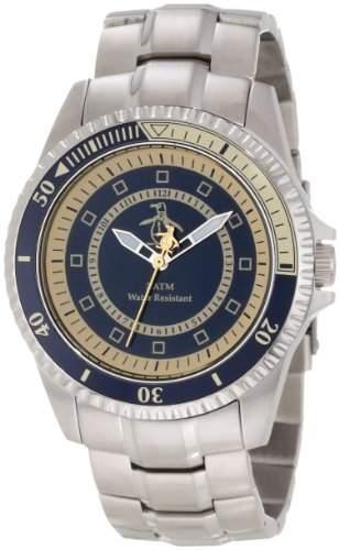 Original Penguin Herren-Armbanduhr Analog edelstahl Silber OP3022SL
