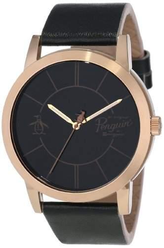 Original Penguin Herren-Armbanduhr Analog Leder schwarz OP1025RG