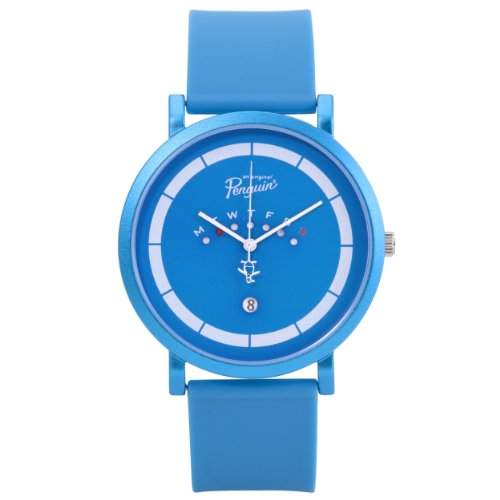 Original Penguin Herren-Armbanduhr Analog Silikon Blau OP2028BL