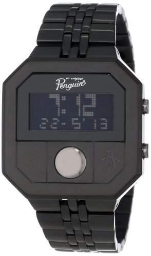 Original Penguin Herren-Armbanduhr Digital edelstahl Schwarz OP3034BK