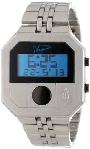 Original Penguin Herren-Armbanduhr Digital edelstahl Silber OP3034SL