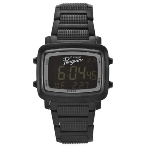 Original Penguin Mens OP3036BK Errol Black Stainless Steel Digital Watch