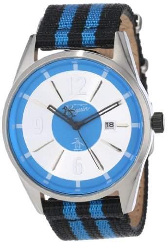 Original Penguin Herren-Armbanduhr Analog Quarz Kunststoff OP4024SL