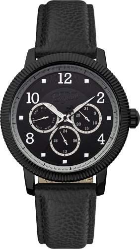 Original Penguin Herren-Armbanduhr Analog Quarz Leder OP5008BK