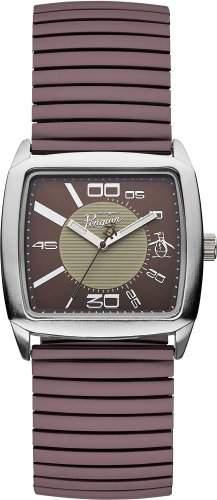 Original Penguin Herren-Armbanduhr Analog Quarz Schokolade OP5010BR