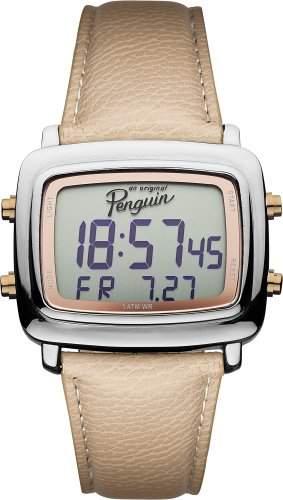 Original Penguin Men- Armbanduhr Digital Automatik Leder OP5017SL Beige