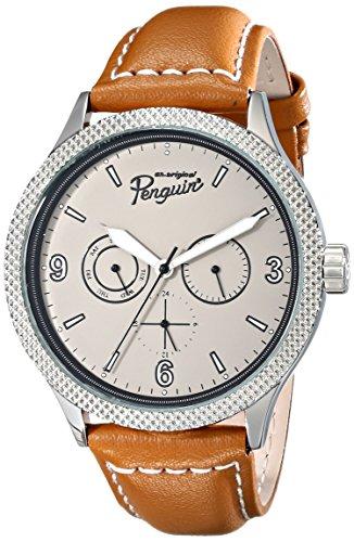 Original Penguin Herren OP 1064 BR Vinnie Analog Display Japanisches Quarz braun Armbanduhr