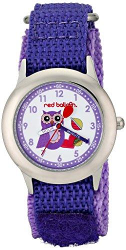 Red Balloon Kinder Armbanduhr Red Balloon Love Owl Kids Stainless Steel Time Teacher Analog Nylon Violett W000333