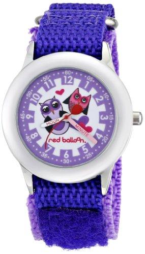 Red Balloon Kinder Armbanduhr Red Balloon Love Owl Kids Stainless Steel Time Teacher Analog Nylon Violett W000334