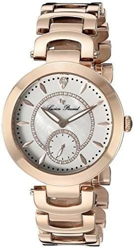 Lucien Piccard Casablanca Damen-Armbanduhr 36mm Armband Edelstahl Rot + Gehaeuse Quarz Analog 10268-RG-22