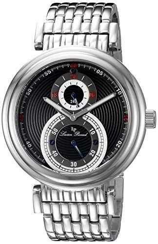 Lucien Piccard Polaris Herren-Armbanduhr 44mm Armband Edelstahl + Gehaeuse Sapphitek Quarz Analog 10618-11