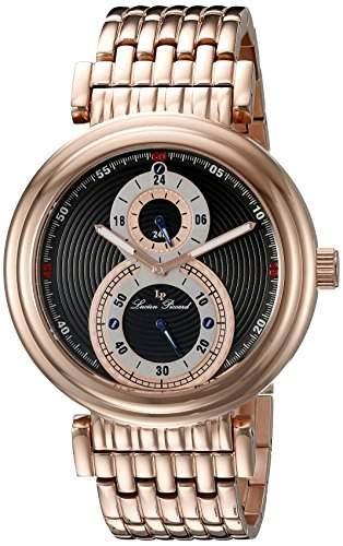 Lucien Piccard Polaris Herren-Armbanduhr 44mm Armband Edelstahl Rot + Gehaeuse Sapphitek Quarz 10618-RG-11