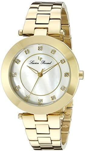 Lucien Piccard Odessa Damen-Armbanduhr 36mm Armband Edelstahl Gold + Gehaeuse Sapphitek Quarz 16309-YG-22