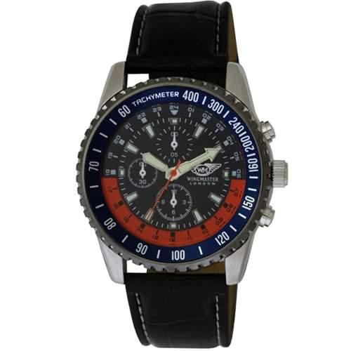 Wingmaster Herren-Armbanduhr Wingmaster gents fashion watch with decorative multi-dial Analog Kunststoff schwarz WM00556
