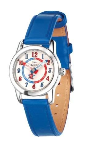 D for Diamond Jungen-Armbanduhr Analog Quarz Leder Z787