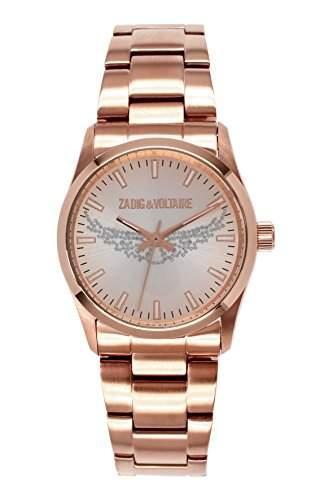 Zadig & Voltaire Damen-Armbanduhr Rock Analog Quarz Rosa ZV 0032TMN