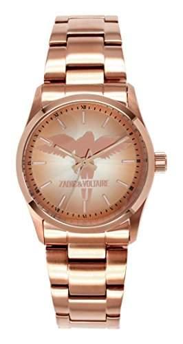 Zadig & Voltaire Damen-Armbanduhr Rock Analog Quarz Rosa ZV 0042TM