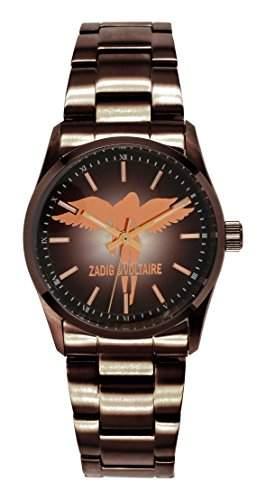 Zadig & Voltaire Damen-Armbanduhr Rock Analog Quarz Schokolade ZV 0045UM