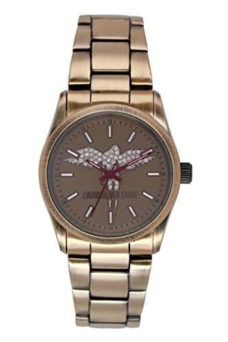 Zadig & Voltaire Damen-Armbanduhr Rock Analog Quarz Beige ZV 0058UM