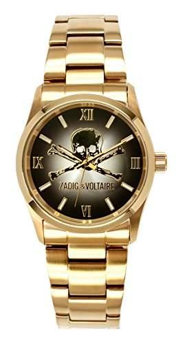 Zadig Voltaire &ZV 0071AM-Rock-Armbanduhr Alyce Quarz analog Stahl goldfarben beschichtet