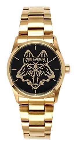 Zadig Voltaire ZV &007L1AM-Rock-Armbanduhr Alyce Quarz analog Stahl goldfarben beschichtet