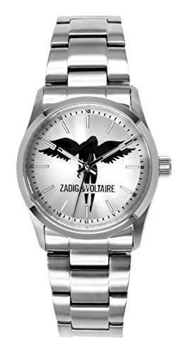 Zadig & Voltaire Damen-Armbanduhr Rock Analog Quarz Edelstahl ZV 008FM