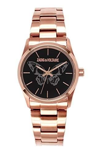 Zadig & Voltaire Damen-Armbanduhr Rock Analog Quarz Rosa ZV 0302AMN