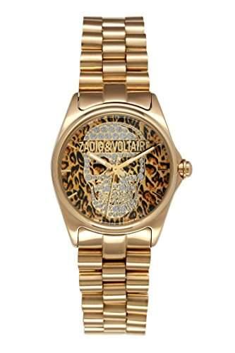 Zadig & Voltaire Damen-Armbanduhr GlamRock Analog Quarz Edelstahl beschichtet ZV 0751UM