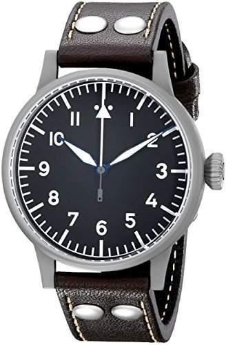 Laco 1925 Herren-Armbanduhr Laco Pilot 861748 Analog Automatik Leder Braun 861748