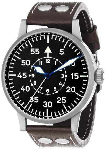 Laco 1925 Herren-Armbanduhr Laco Pilot 861751 Analog Leder Braun 861751