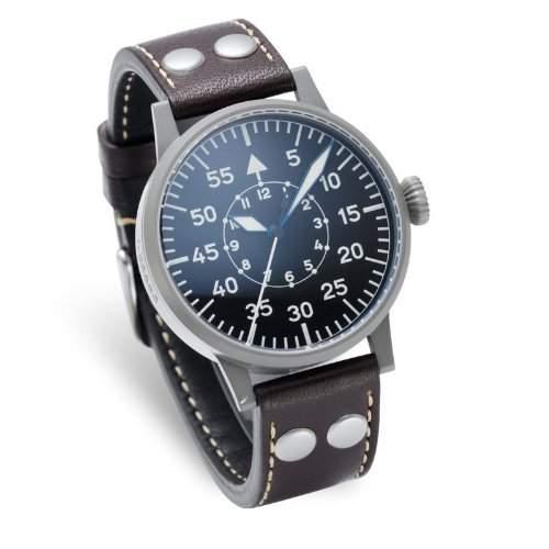 Laco 1925 Herren-Armbanduhr Laco Pilot 861753 Analog Automatik Leder Braun 861753