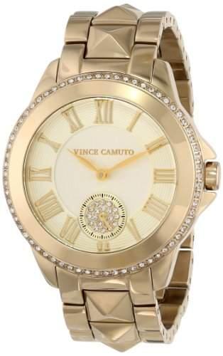 Vince Camuto Damen VC5048CHGB Gold-Tone Pyramid Stud Bracelet Swarovski Elements Armbanduhr