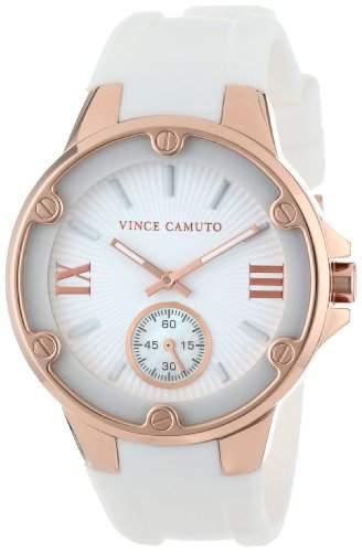 Vince Camuto Damen-Armbanduhr Analog Quarz Silikon VC-5078RGWT