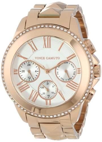 Vince Camuto Women- Armbanduhr Analog Quarz silber Zifferblatt und vergoldetem Edelstahl-ArmbandVC 5156SVG