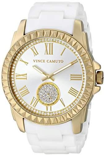 Vince Camuto Damen-Armbanduhr Analog Quarz Keramik VC-5190GPWT