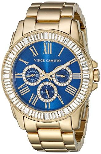 Vince Camuto Damen Quarzuhr mit schwarzem Zifferblatt Analog Anzeige und schwarzem Edelstahl Armband vc 5087bkbk