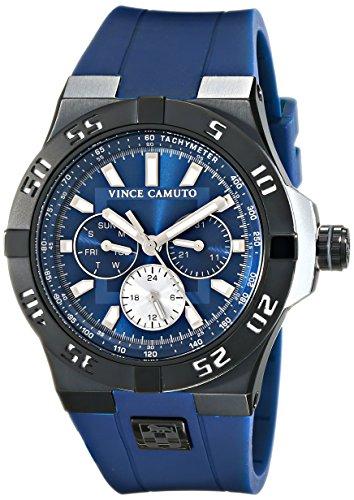 Vince Camuto unisex Armbanduhr The Master Analog Quarz Silikon VC 1010NVTI