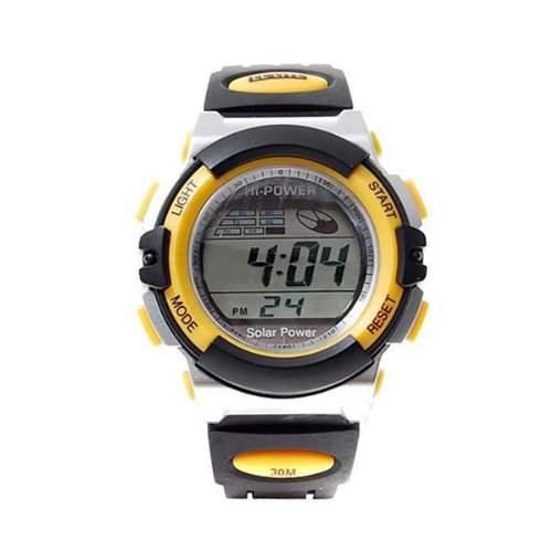 BestOfferBuy E73608-P Unisex Digital Silikon Freizeit Sport Training Uhr Gelb