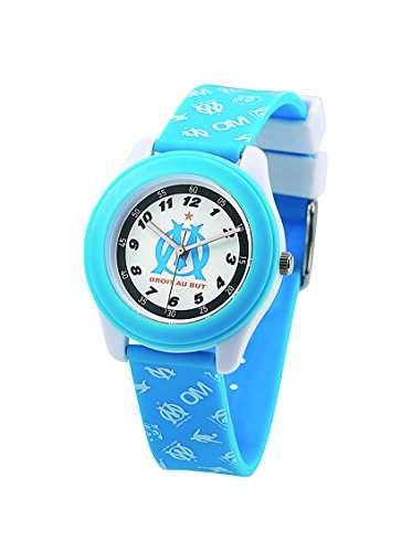 Freegun OMF9001, Olympique de Marseille Jungen-Armbanduhr Alyce Quarz analog Kunststoff, mehrfarbig