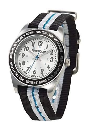 Freegun EE5139 Jungen-Armbanduhr Alyce Quarz analog Nylon, mehrfarbig