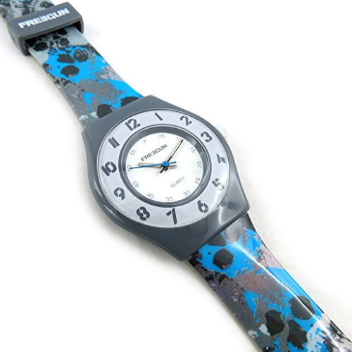 Armbanduhr french touch Freegunblau grau slim