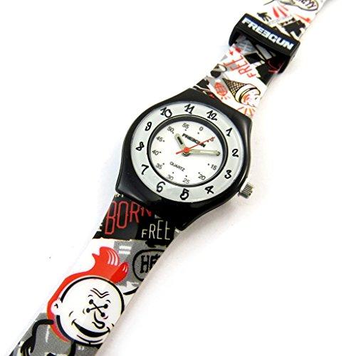 Armbanduhr french touch Freegunschwarz weiss rot slim