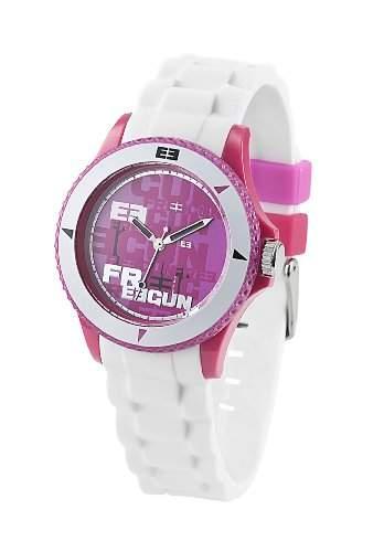 Freegun Damen-Armbanduhr Analog Silikon mehrfarbig EE5039
