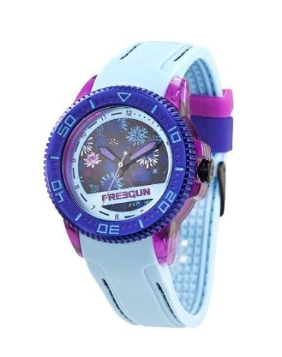 Freegun EE5051 Maedchen-Armbanduhr Analog Kunststoff Blau